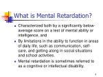 what is mental retardation
