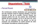 d gustations tests