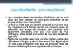 les tudiants prescripteurs