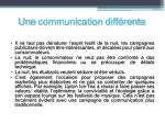une communication diff rente