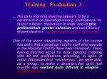 training evaluation 3