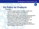 eu policy for products