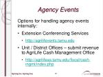 agency events