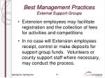 best management practices external support groups4