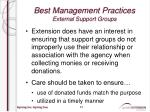 best management practices external support groups6
