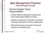 best management practices external support groups8
