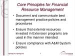 core principles for financial resource management1