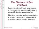 key elements of best practices1