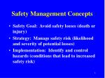 safety management concepts