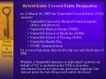 hybrid entity covered entity designation
