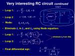 very interesting rc circuit continued
