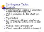 contingency tables an example