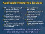 applicable networked devices
