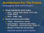 architecture for the future leveraging web technologies