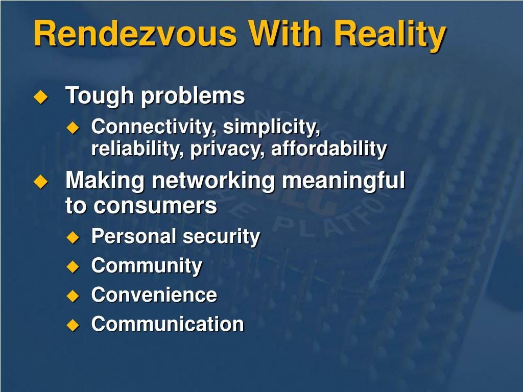 Rendezvous With Reality