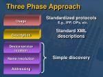three phase approach