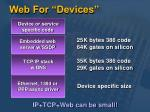 web for devices