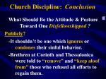 church discipline conclusion