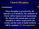 church discipline1