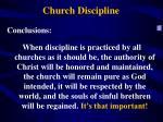 church discipline1