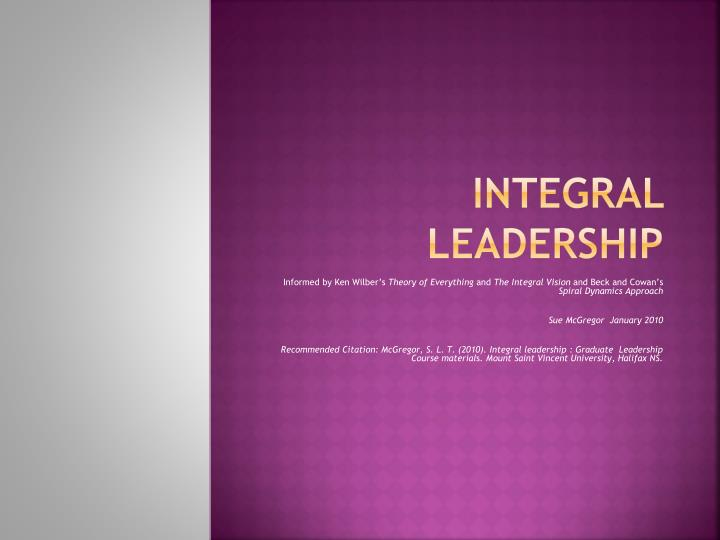 integral leadership n.