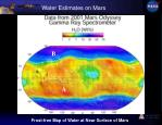 water estimates on mars