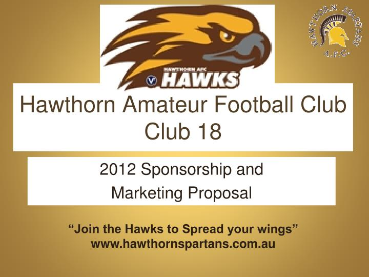 hawthorn amateur football club club 18 n.