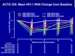 actg 359 mean hiv 1 rna change from baseline
