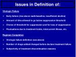 issues in definition of