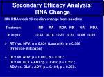 secondary efficacy analysis rna change