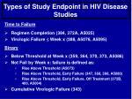 types of study endpoint in hiv disease studies