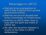 advantages to lafco