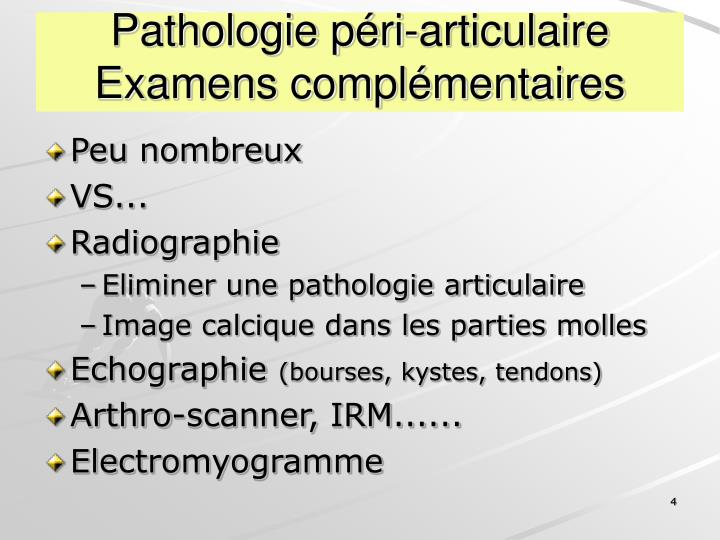 Pathologie péri-articulaire