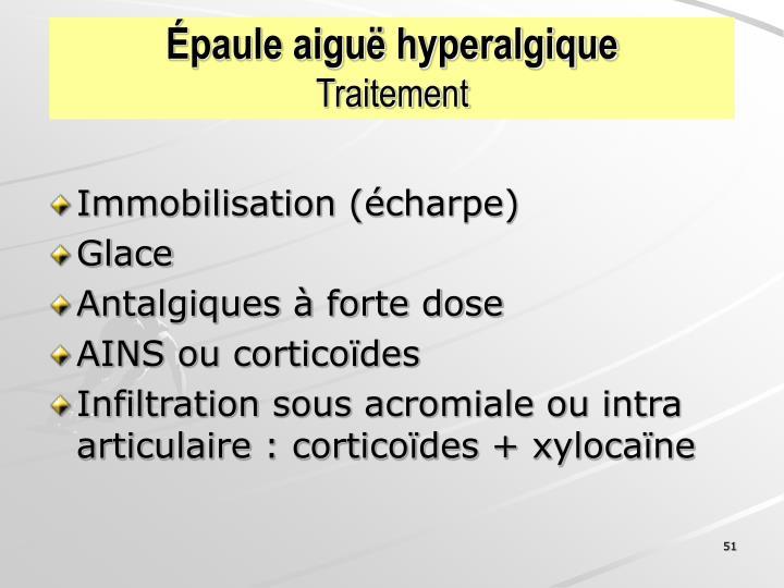 Épaule aiguë hyperalgique