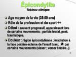 picondylite tableau clinique
