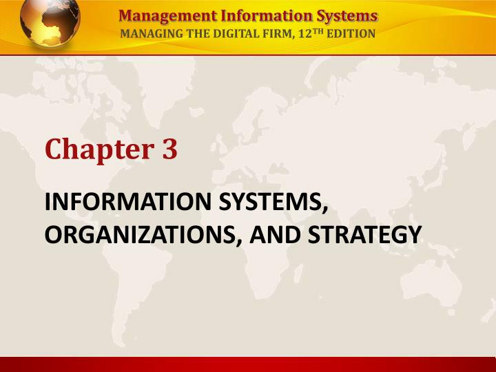 information systems organizations and strategy n.