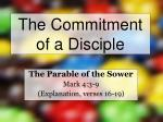 the commitment of a disciple