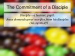 the commitment of a disciple1