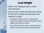 load weight