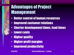 advantages of project management