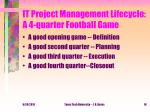 it project management lifecycle a 4 quarter football game