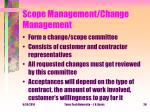 scope management change management