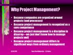 why project management