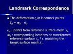 landmark correspondence