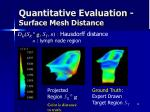 quantitative evaluation surface mesh distance