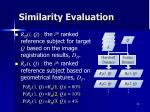 similarity evaluation