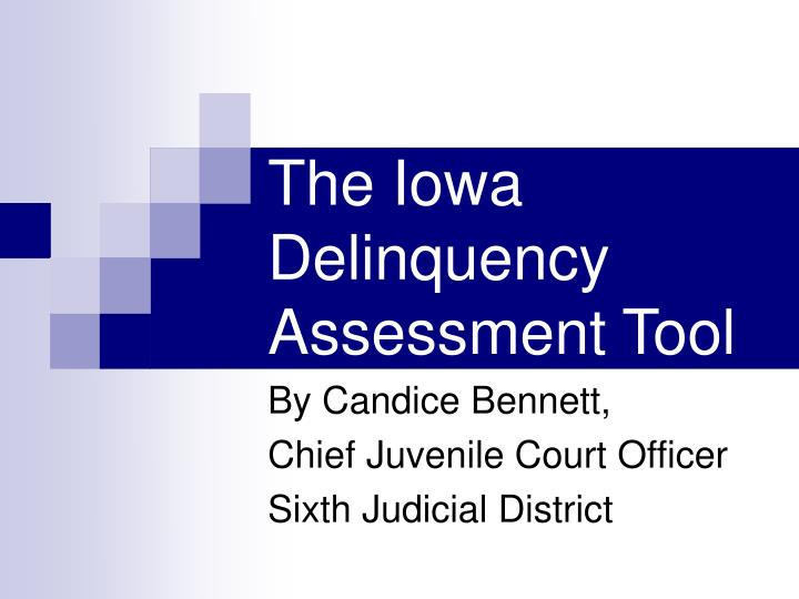 the iowa delinquency assessment tool n.