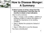 how to disease monger a summary