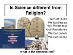 is science different from religion1