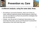 prevention vs care1